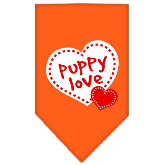 Mirage 66-63 LGOR Puppy Love Screen Print Bandana Orange Large