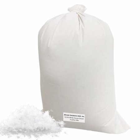 Bulk Goose Down Filling 10 90  2 Lbs  100  Natural White Down And Feather  Fill Stuffing Comforters  Pillows  Jackets And More  Ultra Plush Hungarian Softness   Dream Solutions Usa Brand