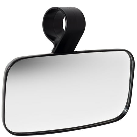 OxGord UTV Rear View Mirror High-Impact ABS Housing Shatter-Proof Tempered Glass Mirror Rear View Mirror With Compass