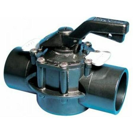 Waterway Plastics 6007060CPVC 2 in. Socket TruSeal Diverter Valve, 2-Way Straight Assembly ()