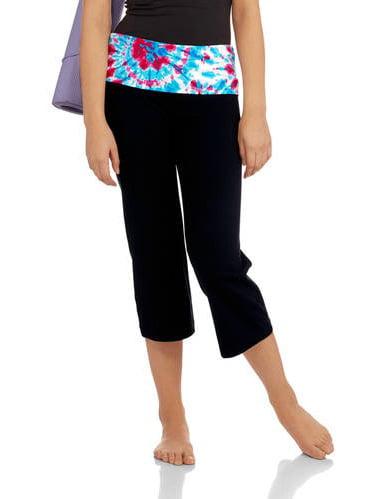 juniors' flare cropped yoga pants  walmart