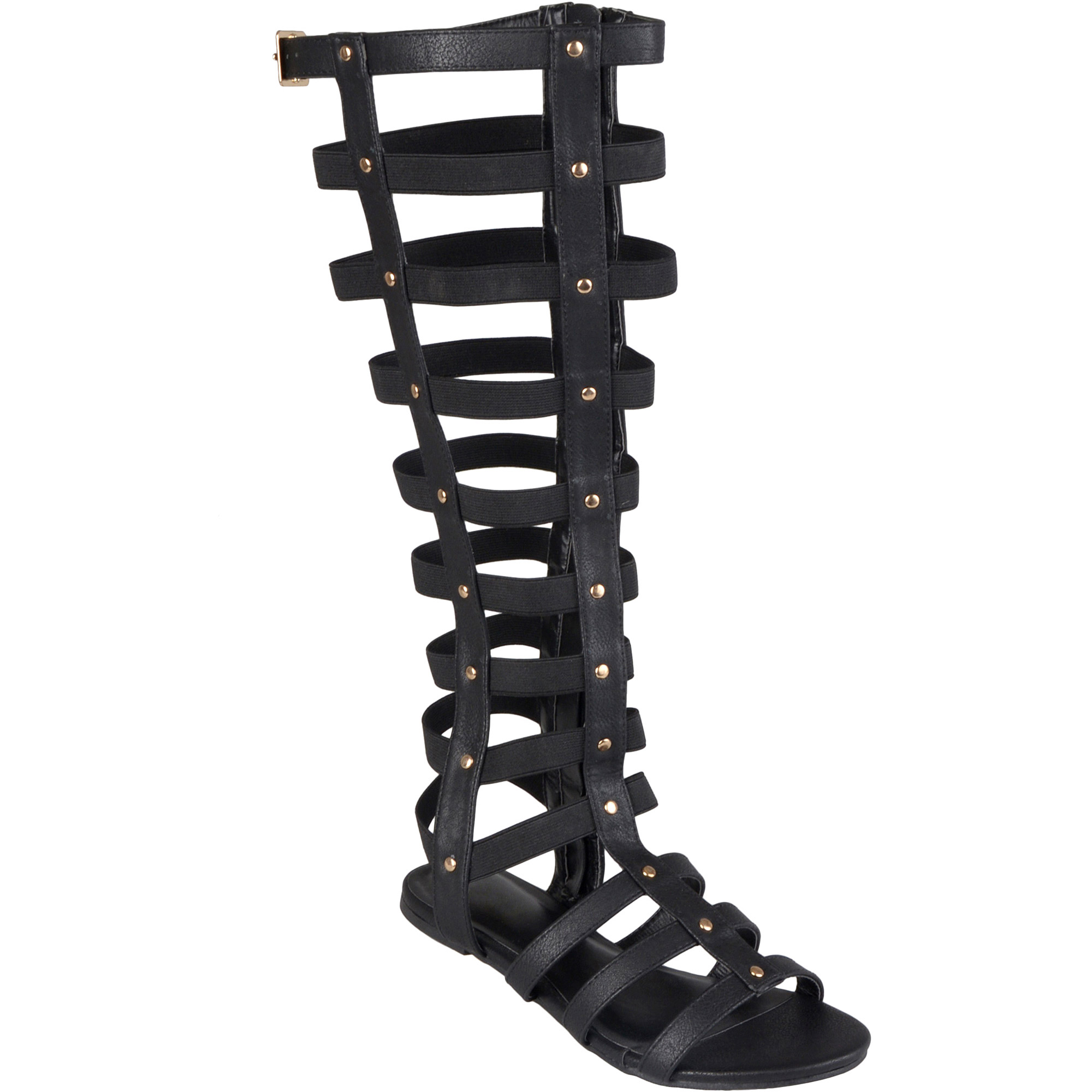 Black sandals at walmart - Womens Tall Strappy Gladiato Walmart Com