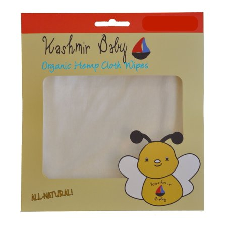20 Organic Cloth Wipes with Hemp and Bamboo by Kashmir Baby (Bamboo Wipes)