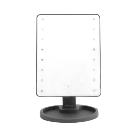 Vivitar Led Lighted Vanity Mirror Black Walmart Com