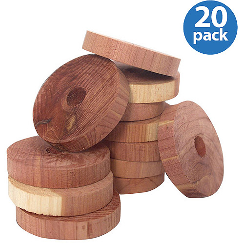 Household Essentials Cedar Rings for Hangers, 20-Count