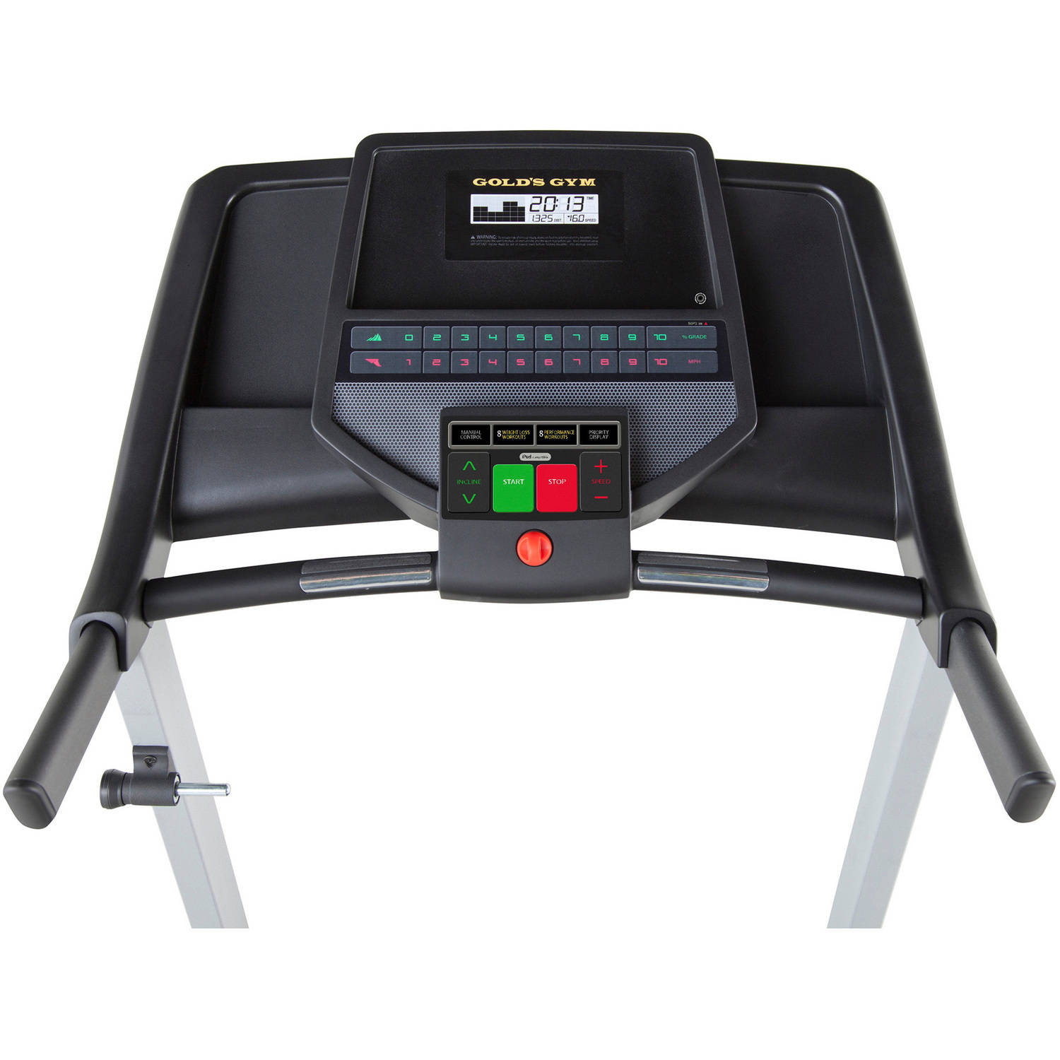 Gold's Gym 420 Treadmill with SpaceSaver Design and Heart Rate Monitor -  Walmart.com