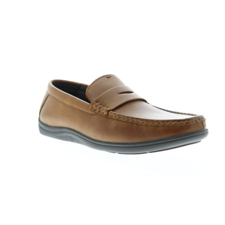 Nunn Bush Brentwood Moc Toe Penny Mens Tan Casual Dress Loafers