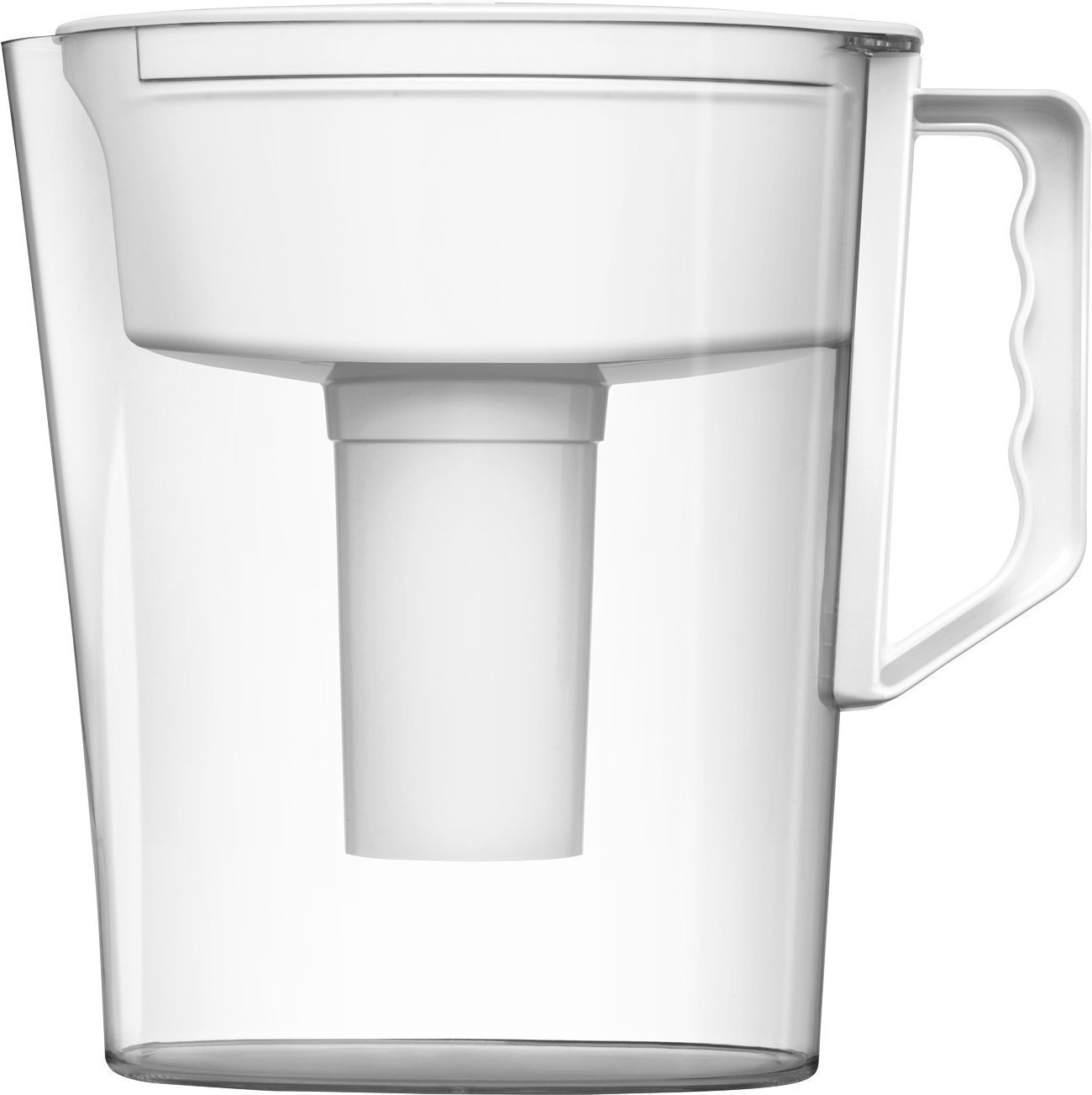 Brita Slim Water Pitcher with 1 Filter, BPA Free, White, 5 Cup