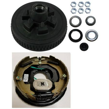 Electric Trailer Brake 10 In Rh Backing Plate Hub Drum Kit 6 Lug On 5