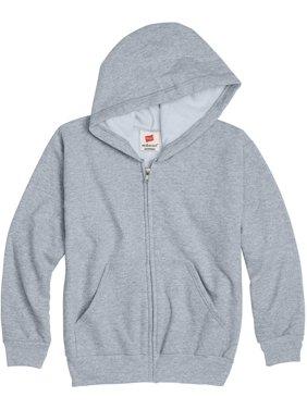 Hanes Boys 4-18 EcoSmart Fleece Full Zip Hooded Jacket