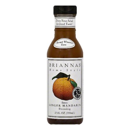 Briannas Saucy Ginger Mandarin Home Style Dressing, 12 OZ (Pack of