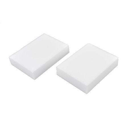 Unique Bargains 2 Pcs Kitchen Bowl Dish Tool Sponge Scrub Stain Dirt Remover Cleaning Pad - image 1 de 1