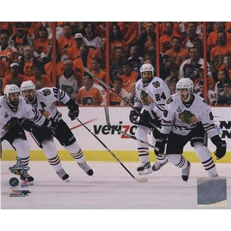 Patrick Kane Patrick Sharp & Nick Boynton Celebrate winning the 2010 Stanley Cup (Patrick Sharp Halloween Flower)