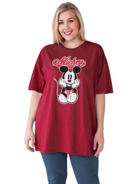 9d976ff0c6f6b Product Image Women s Plus Size Mickey Mouse Varsity T-Shirt - Cardinal  Red. Disney