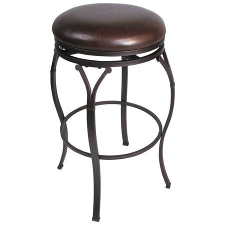 """24.25"""" Lakeview Backless Swivel Counter Height Barstool Brown - Hillsdale Furniture"""