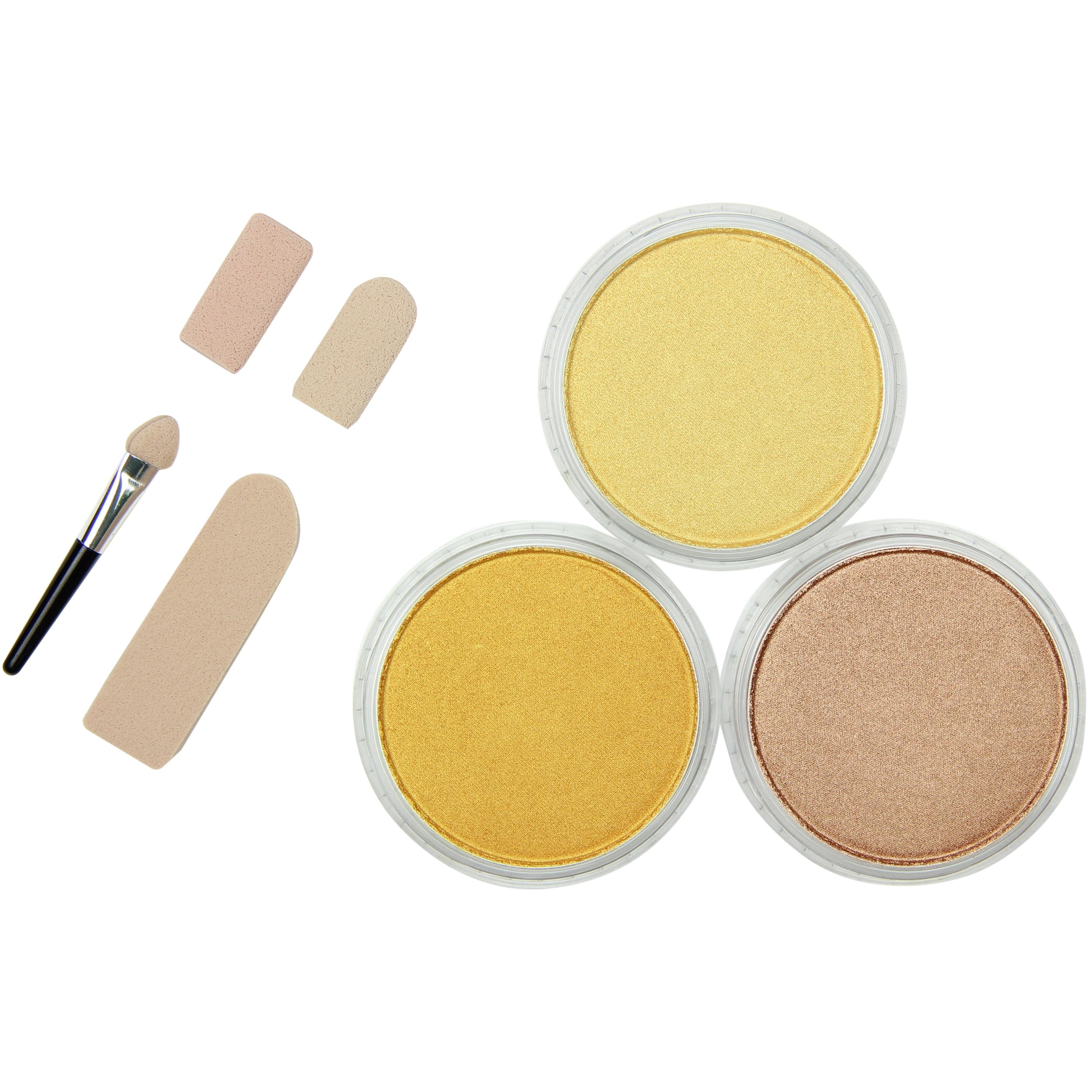 PanPastel Ultra Soft Artist Pastel Set 9ml 3/Pkg-Metallics-Light Gold, Rich Gold & Bronze