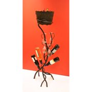 Delancey 4-Bottle Floor Wine Rack with Glass Holder & Removable Ice Bucket