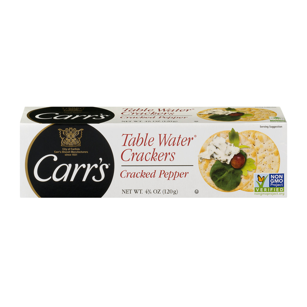 Carr's Table Water w Cracked Pepper Crackers, 4.25 oz by Wal-Mart Stores, Inc.