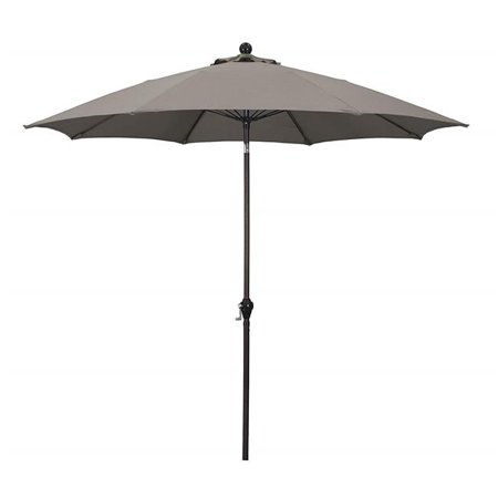 March Products 245791 9 ft. Fiberglass Ribs Aluminum Pole Auto Tilt Umbrella, Charcoal - image 1 de 1