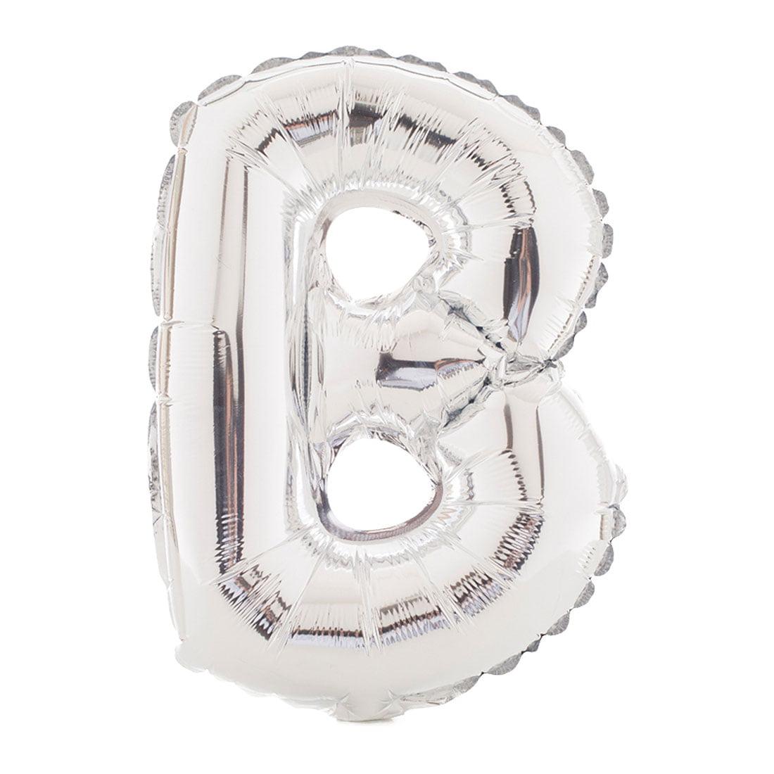 "Unique Bargains 40"" Silver Tone Letter B Balloon Helium Birthday Wedding Festival Decor"