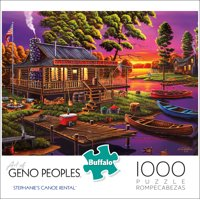 Buffalo Games - Geno Peoples - Stephanie's Canoe Rental - 1000 Piece Jigsaw Puzzle