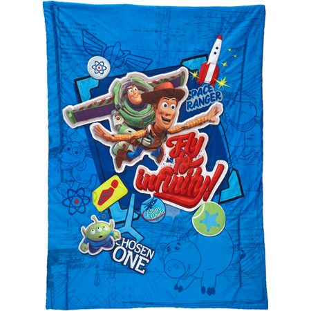 disney toy story fly to infinity 4 piece toddler bedding set walmartcom - Toy Story Toddler Sheets