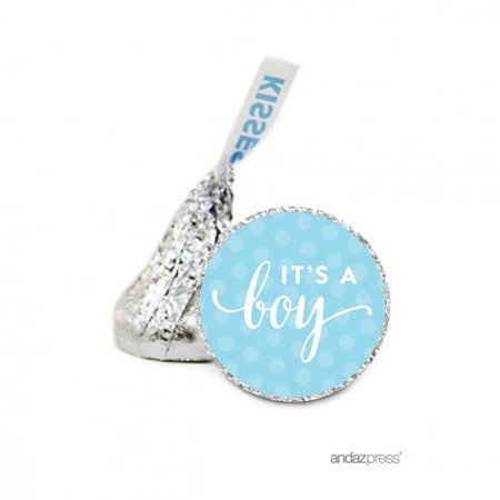 It's A Boy  It´s A…Hershey´s Kiss Baby Shower Stickers, 216-Pack