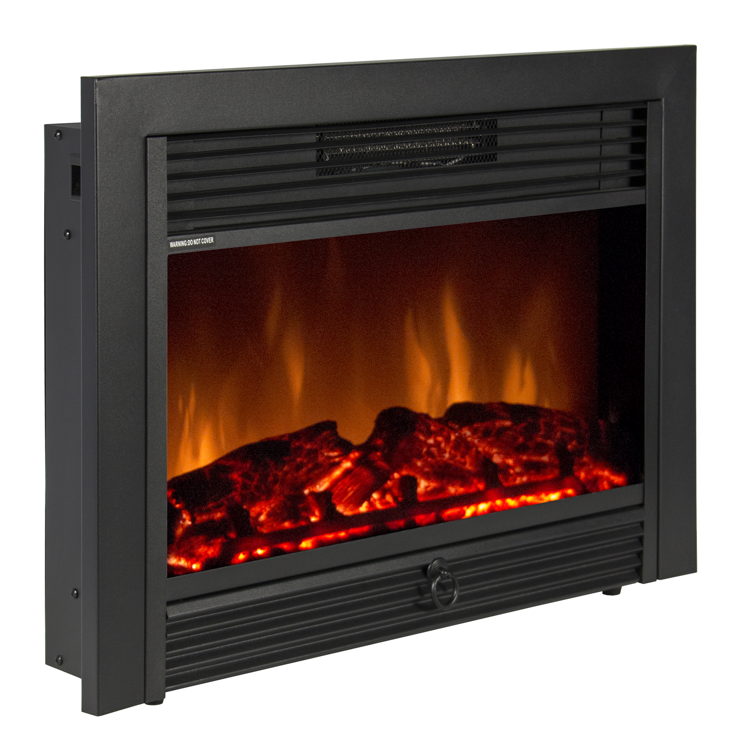 Best Choice Products 28.5in Insert Electric Adjustable Fireplace Heater Display w/ 5 Brightness Levels, 3D Logs, Realistic Flames, Remote Control