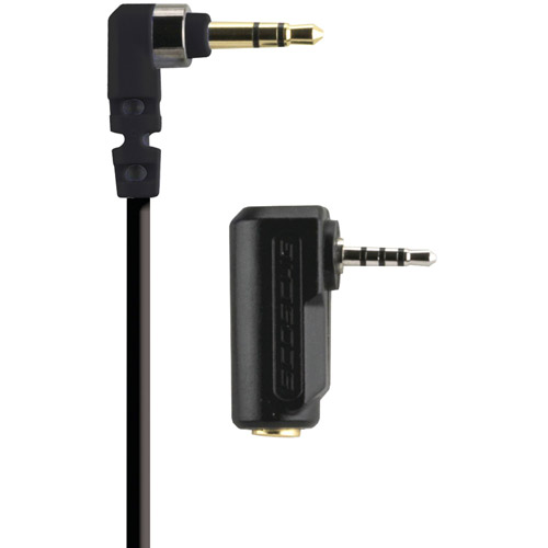 Scosche AUX3BK2 Aux Audio Cable with 90-Degree Angle, 3'