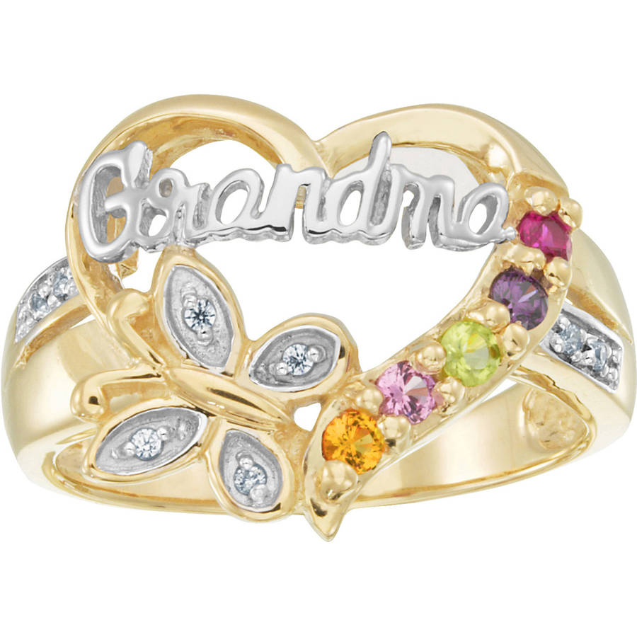Personalized Family Jewelry Grandma's Blessing Ring available in Sterling Silver, Gold over Silver, Yellow and White Gold