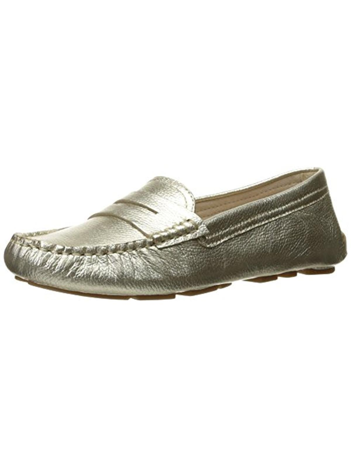 Sam Edelman Womens Filly Leather Penny Loafers Gold 10 Medium (B,M)