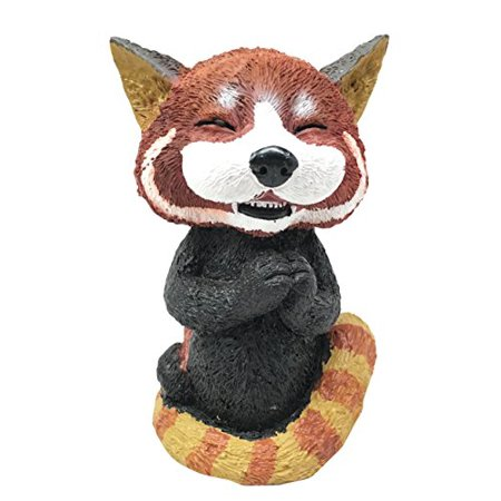 Sinister Pets Grinning Red Panda Bear Cat Figurine As Collectible Decorative Sculpture For Dollhouse Unique Gift Animal Lovers