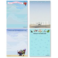 Aviation Notepads - 4 Assorted Note Pads - Airplane Notepads - Pilot Gift
