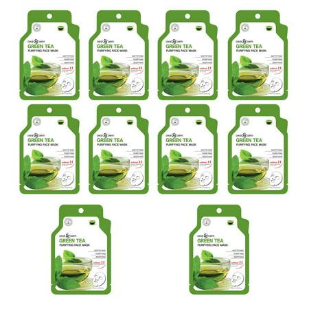 Dearderm Green Tea Age-Eraser Mask ( Pack of 10 ) 0fl.oz/0ml