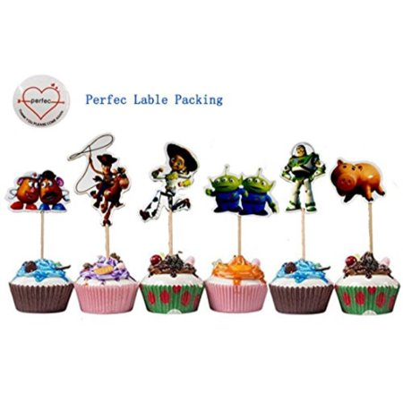 Toy Story Themed Decorative Cupcake Toppers Party Pack for 24 - Classy Party Themes