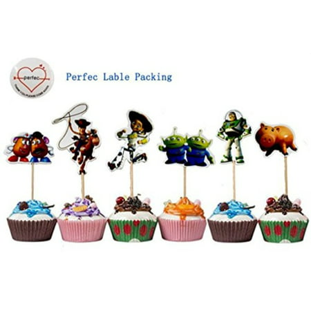 Toy Story Themed Decorative Cupcake Toppers Party Pack for 24 Cupcakes - Great Themes For Parties