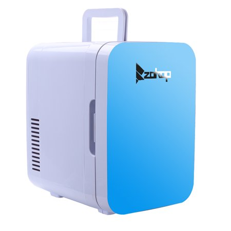 Zimtown Small Portable Mini Refrigerator 8 can Compact Electric Cooler and Warmer, Blue