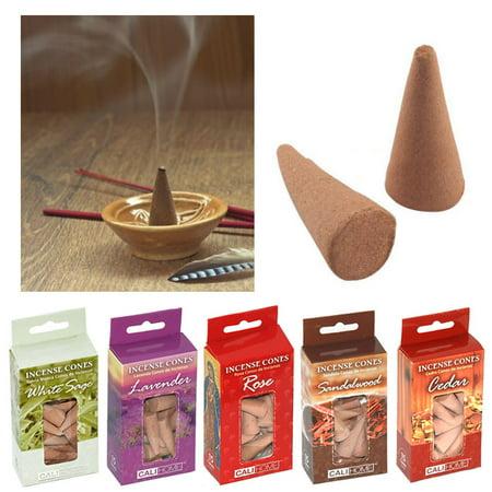 5 Pk Hem Incense Cones Natural Smoke Home Fragrances Assorted Aroma Bulk Sampler