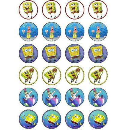 24 Spongebob Cupcake Toppers - Spongebob 24