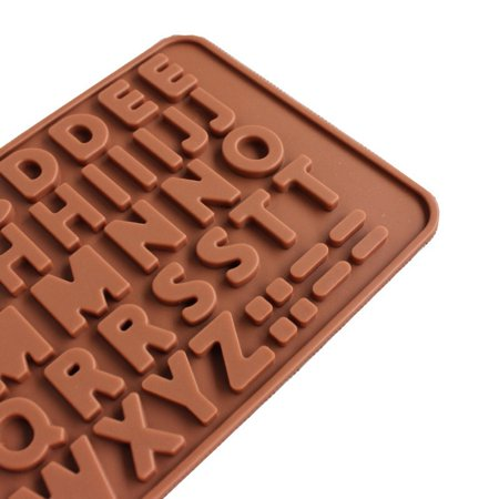 Roofei Silicone Mold DIY 26 English Alphabet Silicone Chocolate Molds Cake Mould Baking Tools Gummy Molds Silicone - Candy Mold - image 1 of 8