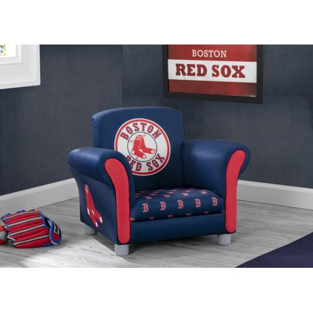 MLB Boston Red Sox Kids Upholstered Chair by Delta Children Mlb Deluxe Chair