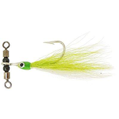 thundermist lure company teaser-t in-line rig, chartreuse/white, medium/5 x