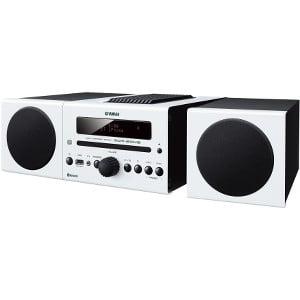 Yamaha MCR-B043 Micro Hi-Fi System - 30 W RMS - White - CD Player - 1 Disc(s) - AM, FM - 30, 30 x AM, FM - CD-RW - 2 Speaker(s) - CD-DA, MP3, WMA - Bluetooth - USB - Remote (Best Micro Hi Fi Speakers)