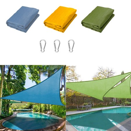 EEEKit 10'x 10'x 10' Triangle Sun Shade Sail Triangle Canopy – UV Resistant Heavy Duty Commercial Grade Outdoor Patio Carport, 95% UV Blockage Water & Air Permeable, Commercial & Residential ()