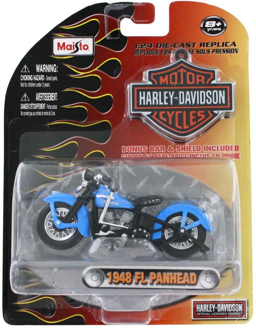 1948 FL Panehad Harley Davidson 1:24 Scale Die-Cast Replica Vehicle by Maistro