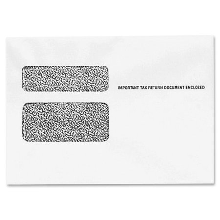 TOPS, TOP2219R, W-2 Form Double Window Envelopes, 24 / Pack, White