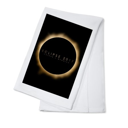 Casper, Wyoming - Eclipse 2017 - Lantern Press Artwork (100% Cotton Kitchen Towel)](Deep Dish Halloween 2017)
