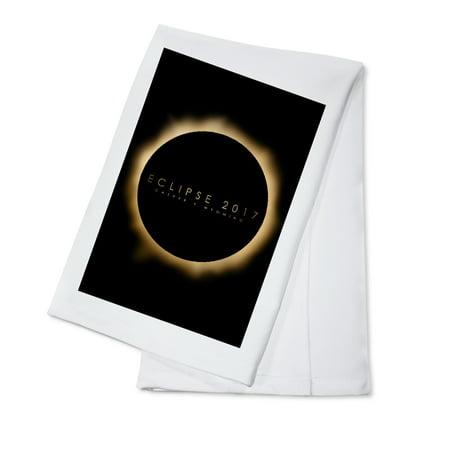 Casper, Wyoming - Eclipse 2017 - Lantern Press Artwork (100% Cotton Kitchen Towel) - Halloween 2017 Kitchen