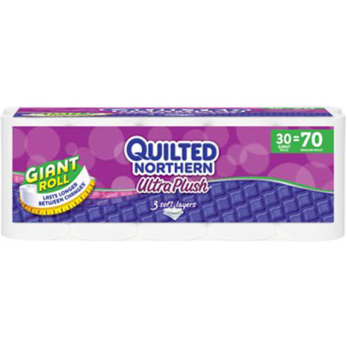 Quilted Northern Ultra Plush Toilet Paper, 30 Giant Rolls, Bath Tissue