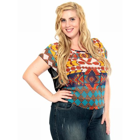 Women's Summer Plus Size Vest Loose Fit Tops, 5151_Black/Blue/Orange, 3XL